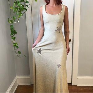 Cynthia Rowley Starry Cut Out Stretch Maxi Dress